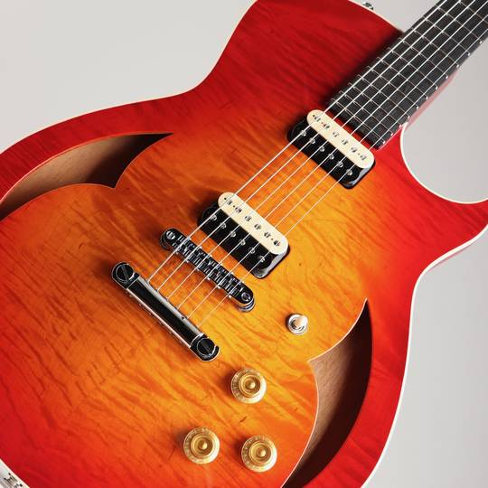 Marchione Guitars Semi Hollow Figured Maple Mahogany Cherry Burst マルキオーネ ギターズ サブ画像10