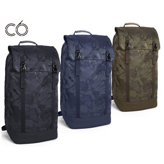 Slim backpack in woven camo ( iPads, MacBook Air,M