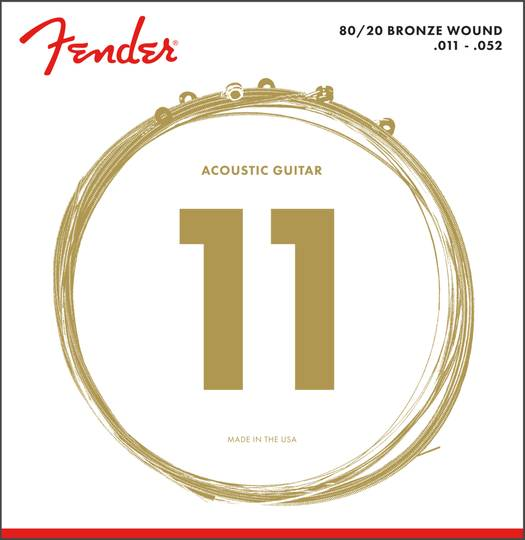 80/20 Bronze Acoustic Strings, Ball End, 70CL .011-.052
