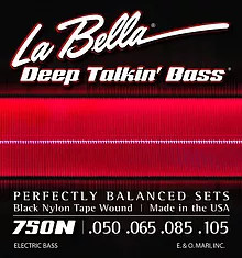 750N Deep Talkin' Bass Black Nylon Tape Wound