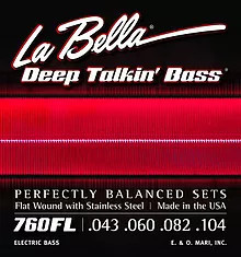 760FL Deep Talkin' Bass STAINLESS STEEL FLATWOUND