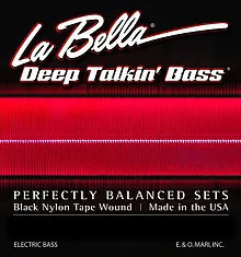 760N Deep Talkin' Bass Black Nylon Tape Wound
