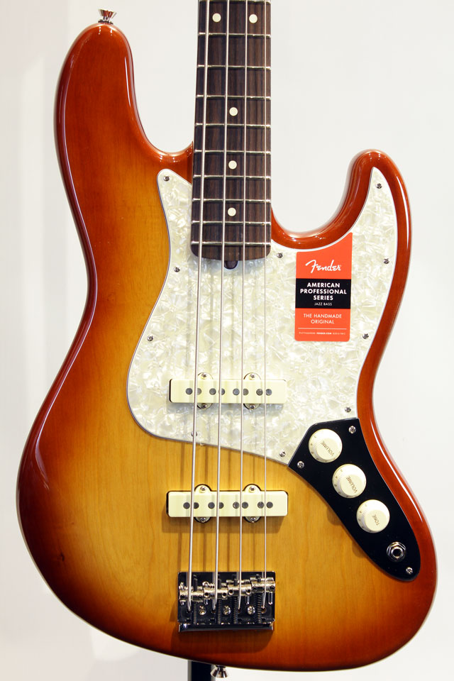 Limited Edition Lightweight Ash American Professional Jazz Bass (Sienna Sunburst)