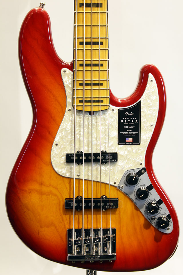 AMERICAN ULTRA JAZZ BASS V (Plasma Red Burst)