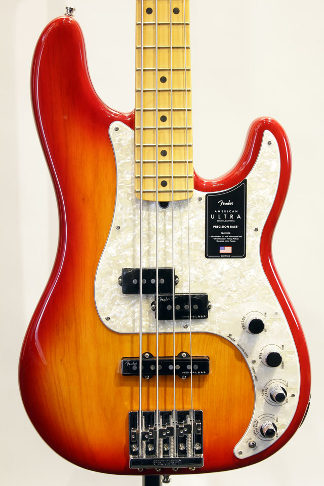 AMERICAN ULTRA PRECISION BASS (Plasma Red Burst)