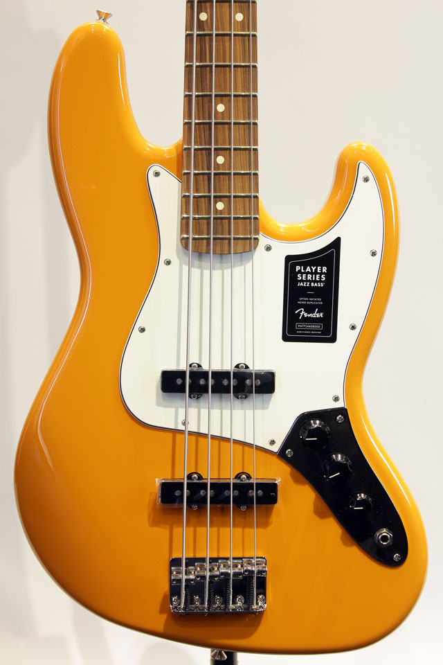 Mexico PLAYER JAZZ BASS (Capri Orange)