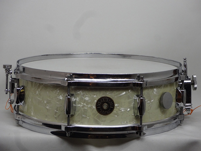 "【VINTAGE】50s-Early 60s Max Roach #4175 White Pearl 14""×4"""