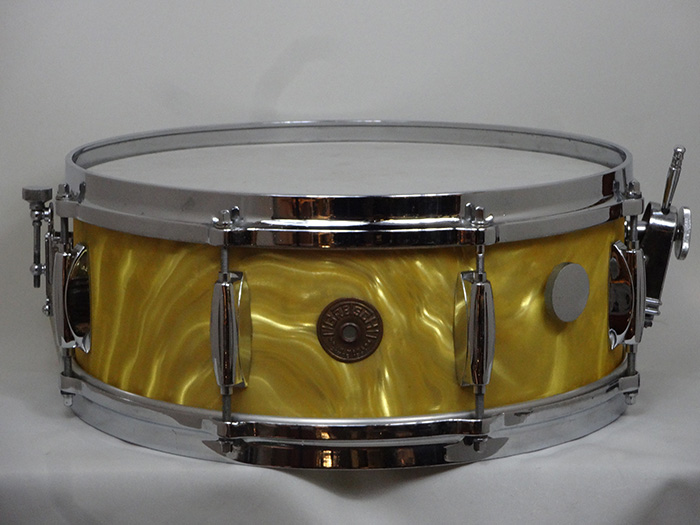 "【VINTAGE】60's Name Band #4157 GOLD SATIN FLAME 14""×5.5"""