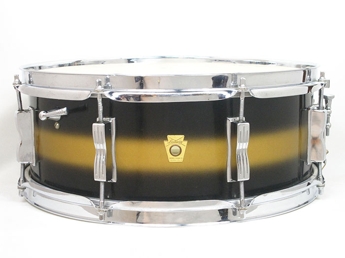 "1963' Jazz Festival Black &Gold Lacquer 14""×5.5"" COB Hoops"