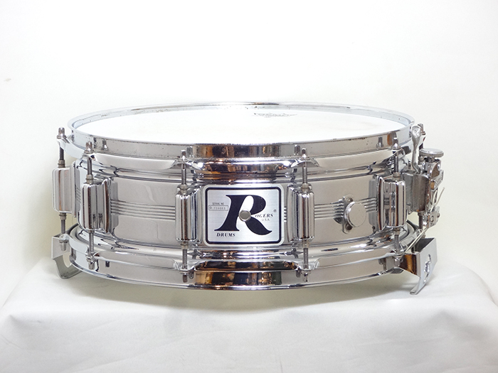 "【VINTAGE】80's Dyna-sonic Chrome Over Brass shell Big ""R"" 14x5.5"