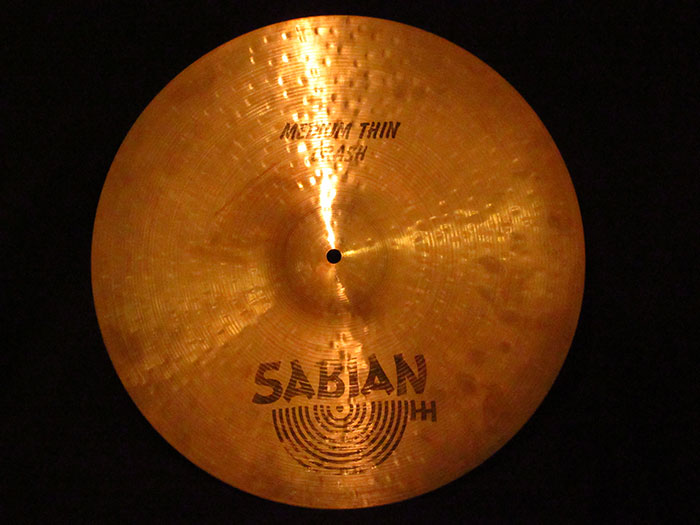 "【中古品】80's Hand Hammered 17"" Medium Thin Crash 1,293g"