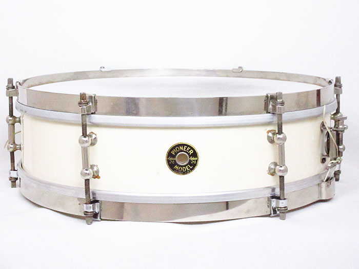 "【VINTAGE】1930s Pioneer Model Maple Shell 14""×4"" White Enamel"
