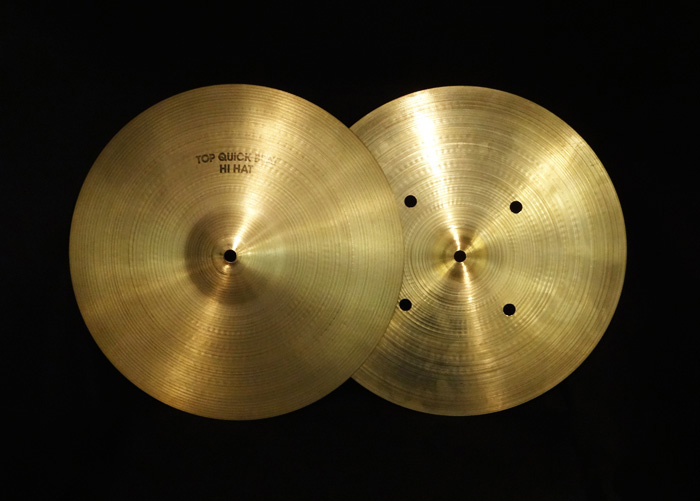 "【VINTAGE】70's A 14"" Quick Beat Hihat 1,237g/1,358g"