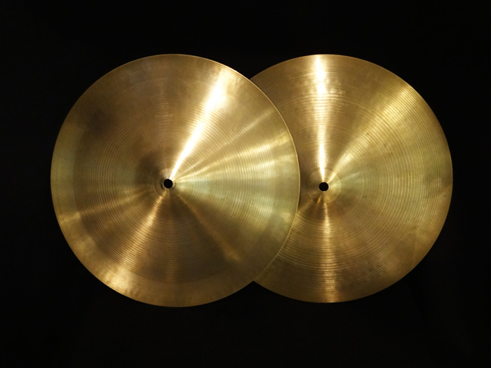 "【VINTAGE】70's A 14"" Flange Hihats 1,223g/1,271g"