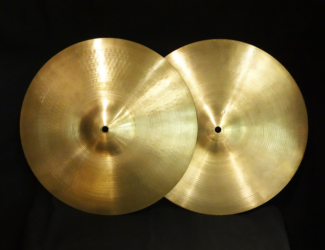 "【VINTAGE】Early 70's A 14"" NewBeat Hihats 766g/1,172g"
