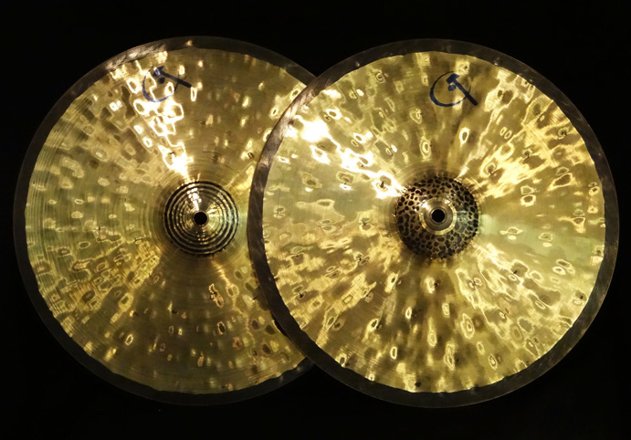 "【中古品】Bettis Custom 14.4"" Reversible HiHats 1,091g/1,093g"