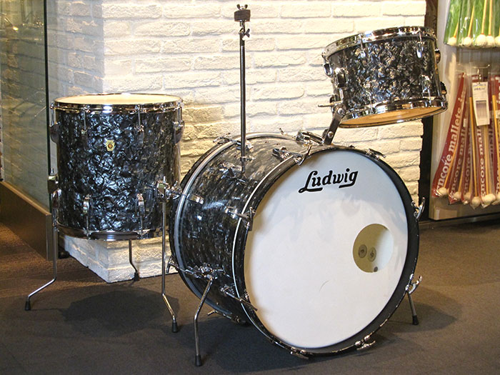 "60's DownBeat Kit Black Diamond Pearl 20"" 12"" 14"""