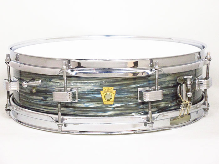 "【VINTAGE】1963-64' Downbeat Oyster Blue Pearl COB Hoops 14""×4"""