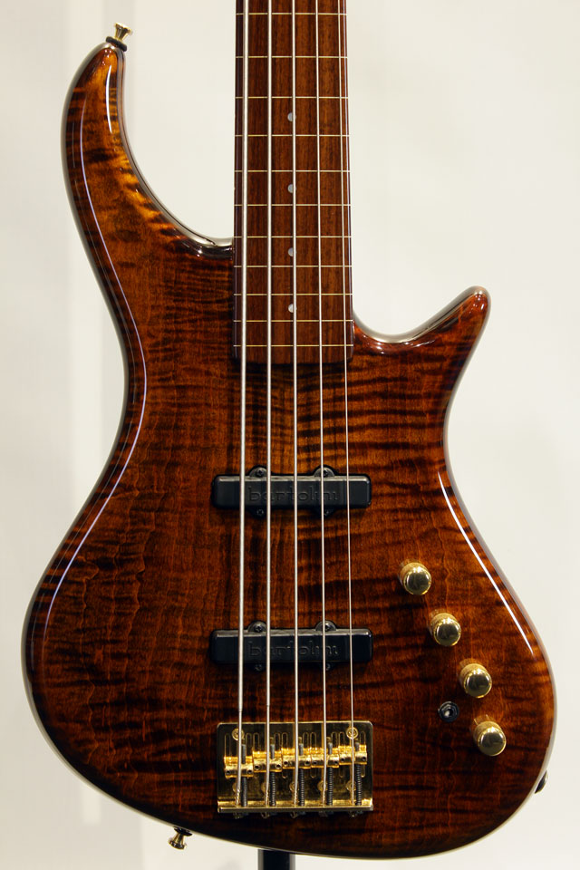 "Rapture RBJ2-5/NPG Fretless  ""3A Flame Maple"""