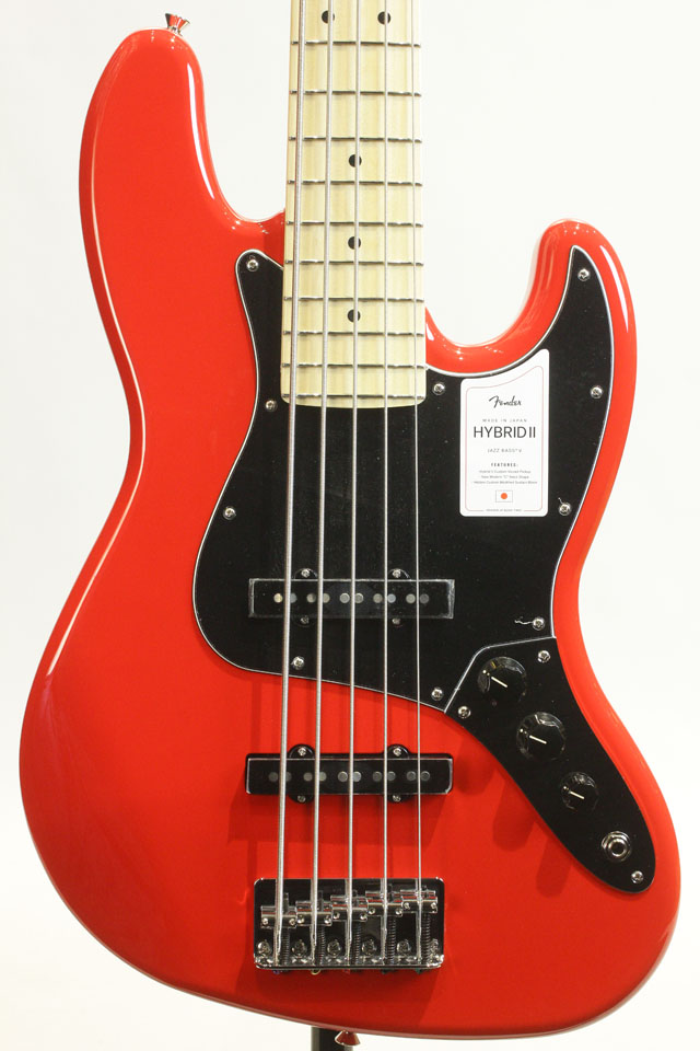 MADE IN JAPAN HYBRID II JAZZ BASS V Modena Red
