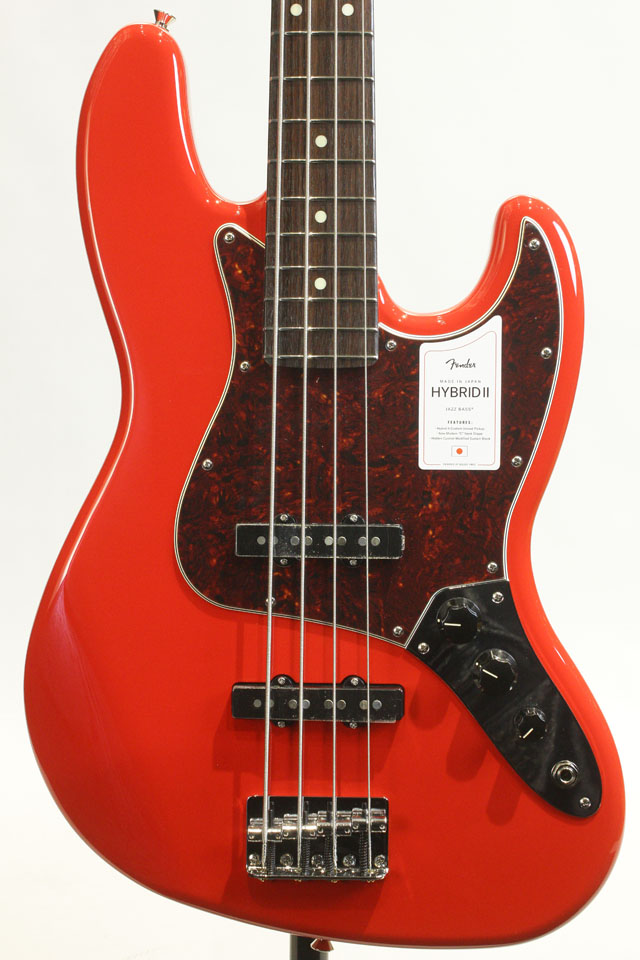 MADE IN JAPAN HYBRID II JAZZ BASS Modena Red / Rosewood