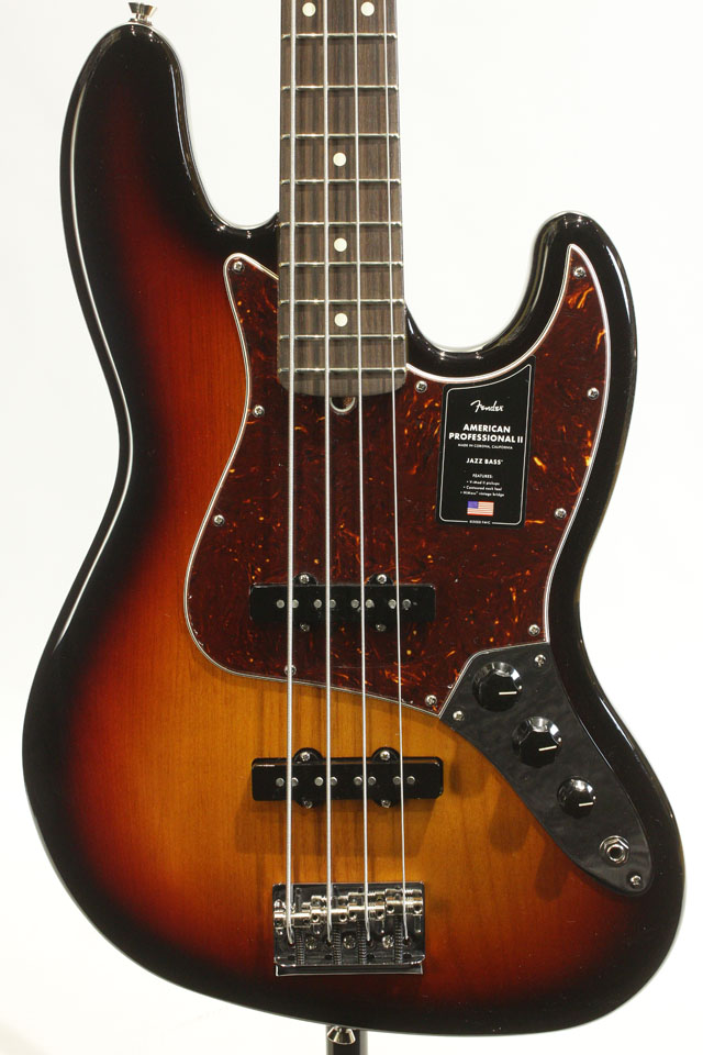American Professional II Jazz Bass 3-Color Sunburst / Rosewood