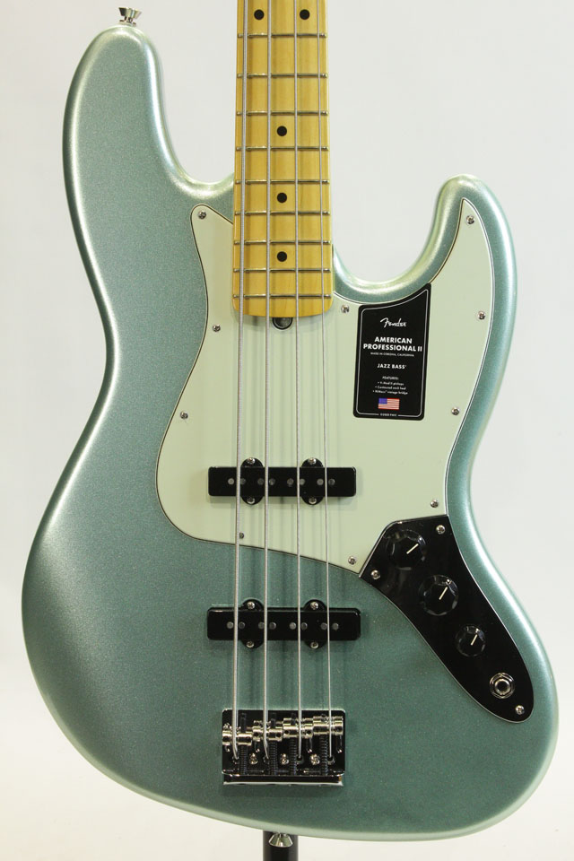 American Professional II Jazz Bass Mystic Surf Green / Maple