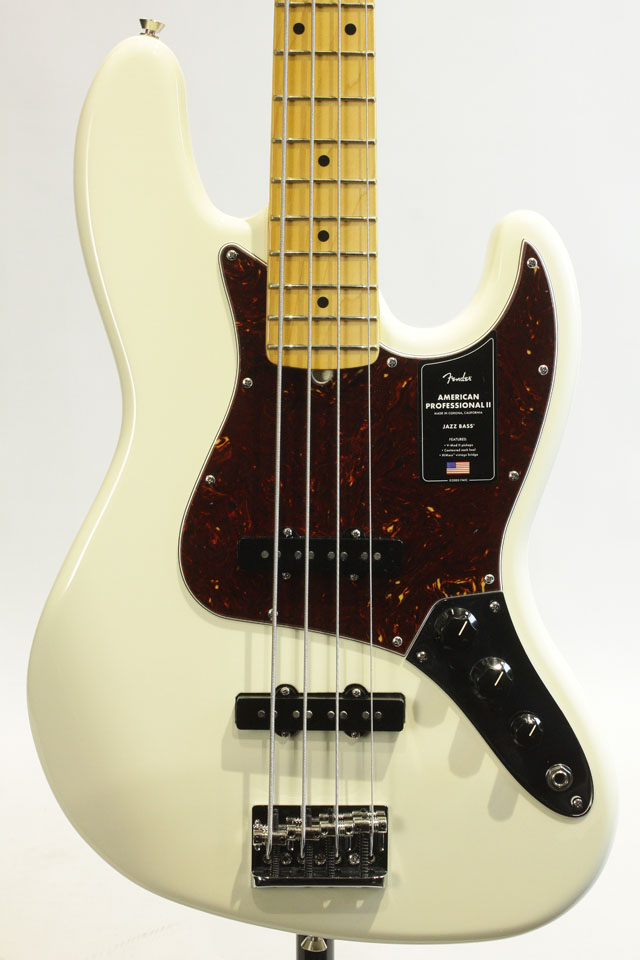 FENDER/USA  American Professional II Jazz Bass Olympic White / Maple フェンダー/ユーエスエー
