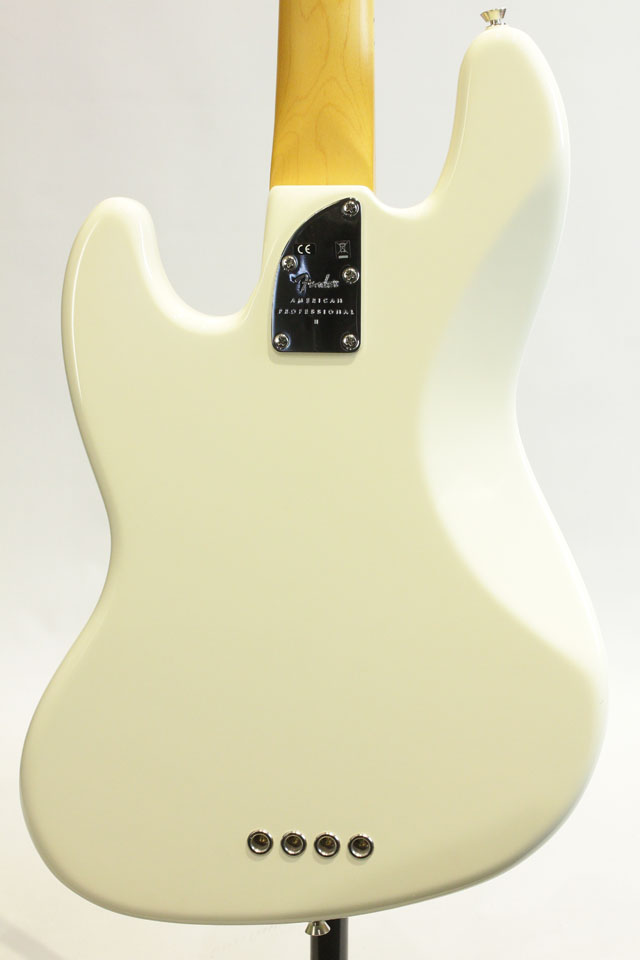 FENDER/USA  American Professional II Jazz Bass Olympic White / Maple フェンダー/ユーエスエー サブ画像1