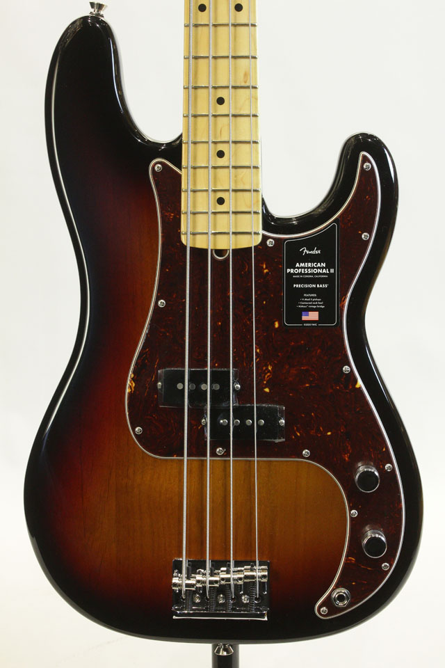 American Professional II Precision Bass 3-Color Sunburst / Maple