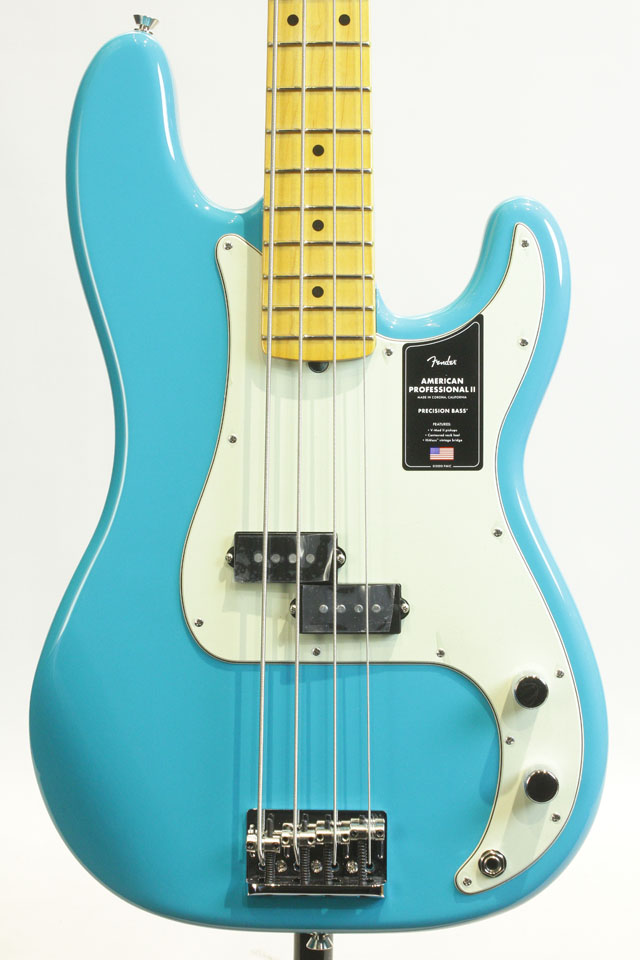 American Professional II Precision Bass Miami Blue / Maple