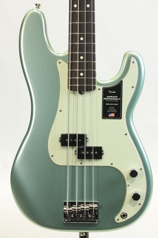 American Professional II Precision Bass  Mystic Surf Green / Rosewood