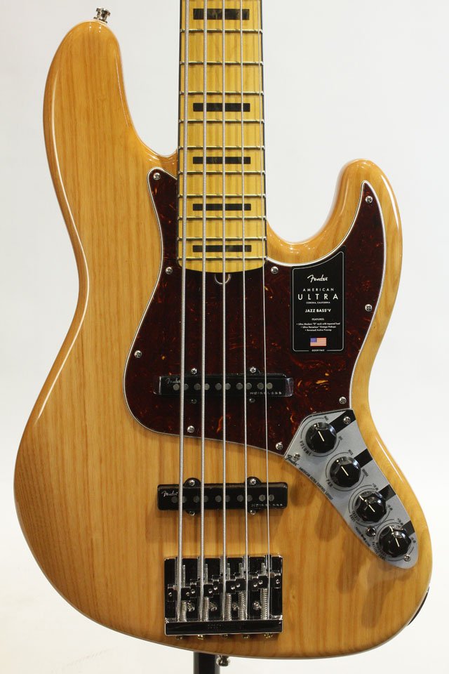 AMERICAN ULTRA JAZZ BASS V Ash Maple Aged Natural