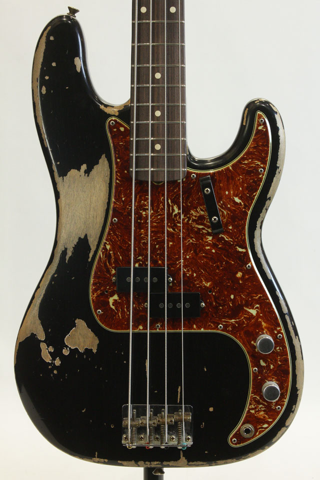 Master Build Serieas  60s Precision Bass Heavy Relic Black/MH by Todd Krause