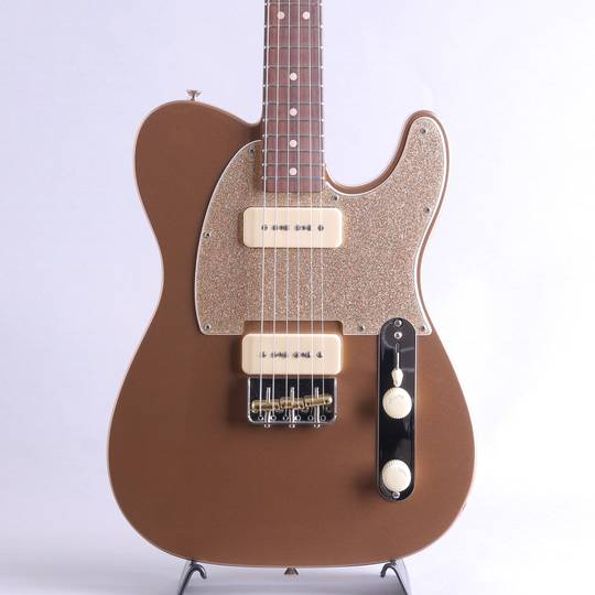 MBS P-90 Telecaster NOS Fire Mist Gold Built by Jason Smith