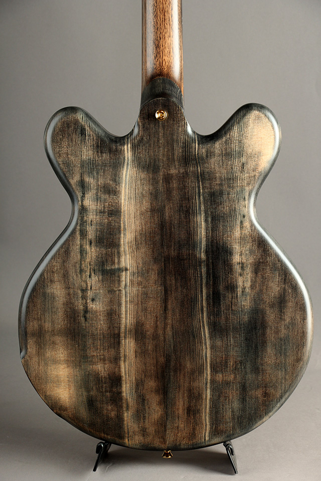 Victor Baker Guitars Model 35 chambered Semi-hollow Black smoke stain with satin topcoat  ヴィクター ベイカー サブ画像4