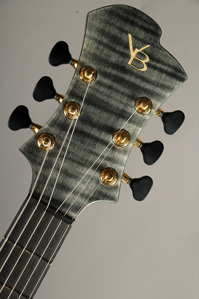 Victor Baker Guitars Model 35 chambered Semi-hollow Black smoke stain with satin topcoat  ヴィクター ベイカー サブ画像7