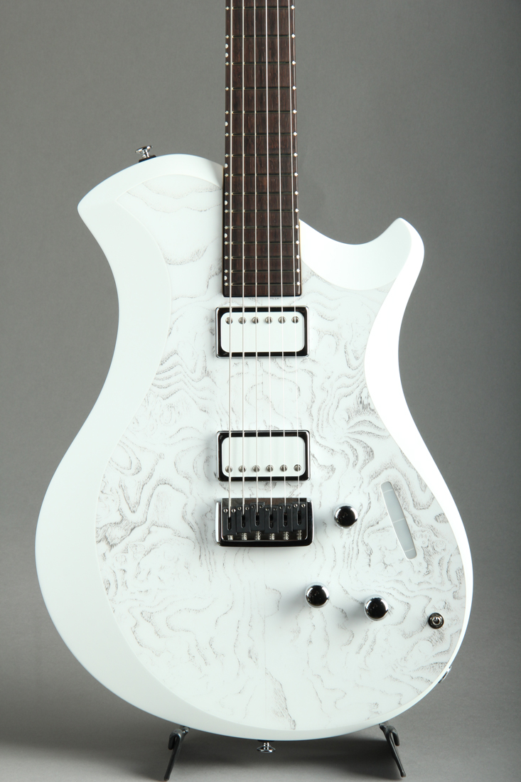 MARY ONE Burl Ash White Black / White Edge