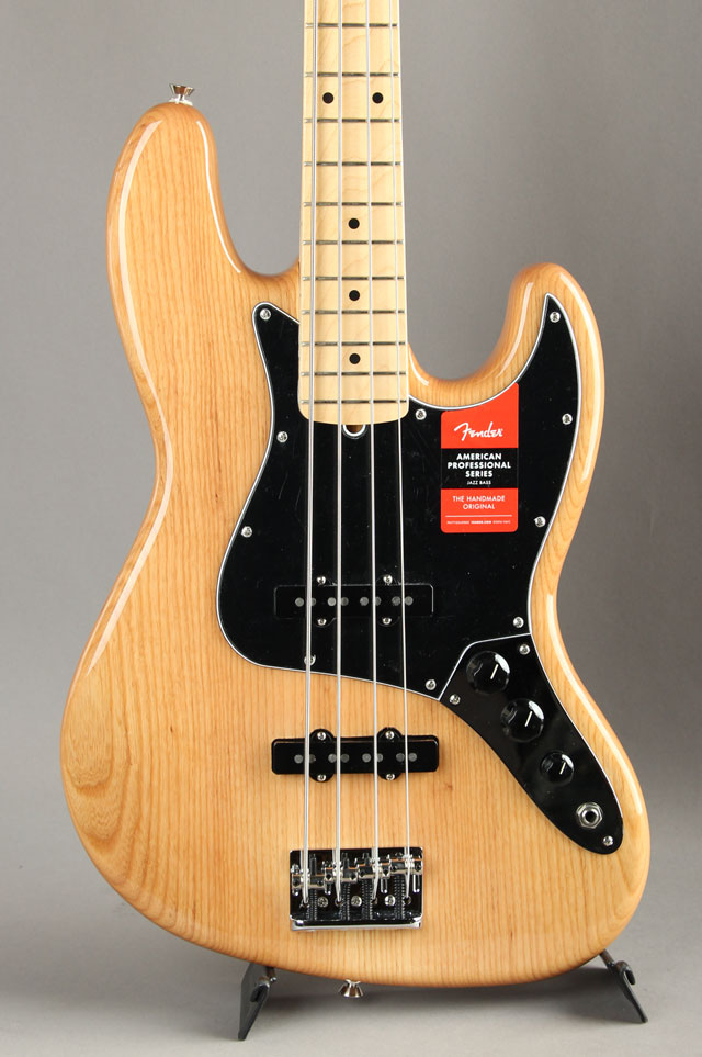 American Professional Jazz Bass Ash Natural