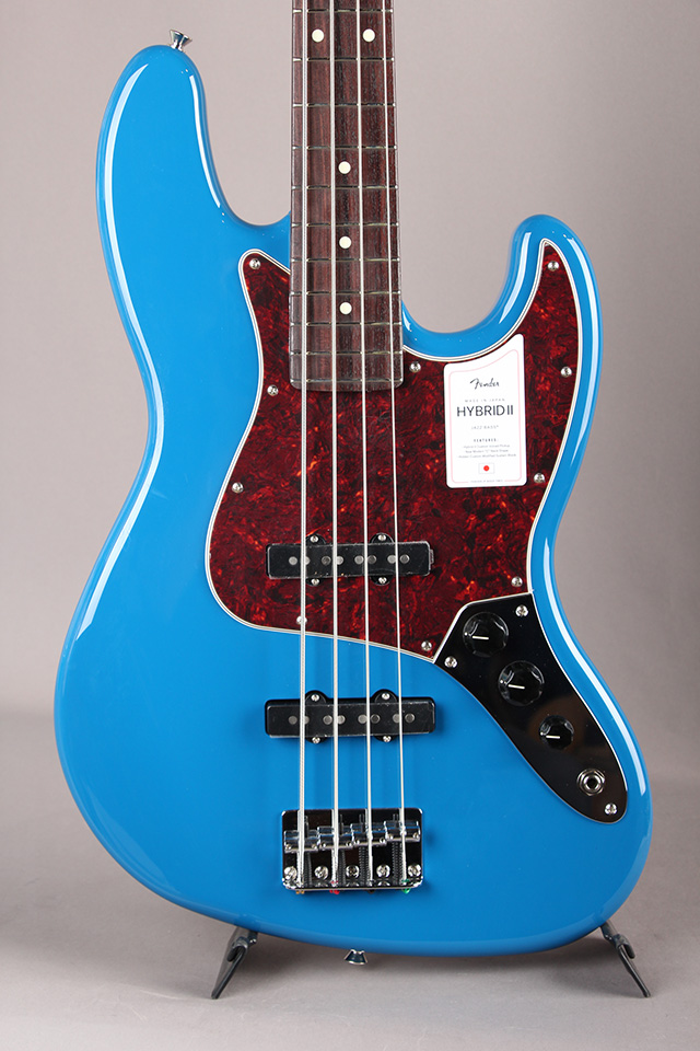 Made in Japan Hybrid II Jazz Bass Forest Blue