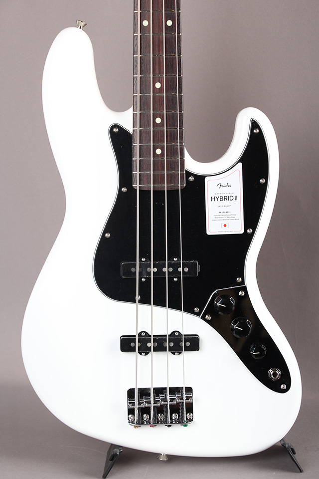 Made in Japan Hybrid II Jazz Bass Arctic White