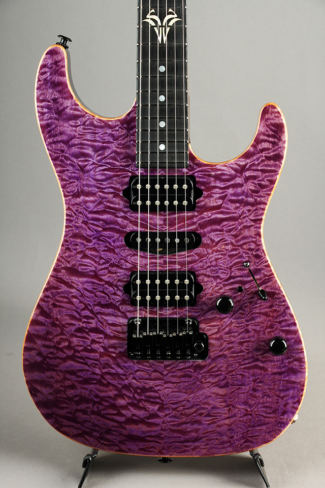 Standard Quilt Maple Match Figured Headstock/ Trans Purple