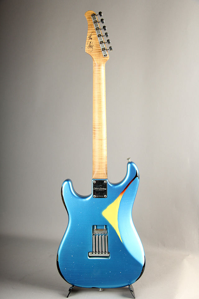 XOTIC XSC-AH Heavy Aged / Lake Placid Blue Over 3-Tone Burst【Allen Hinds サイン入り】 エキゾチック サブ画像2