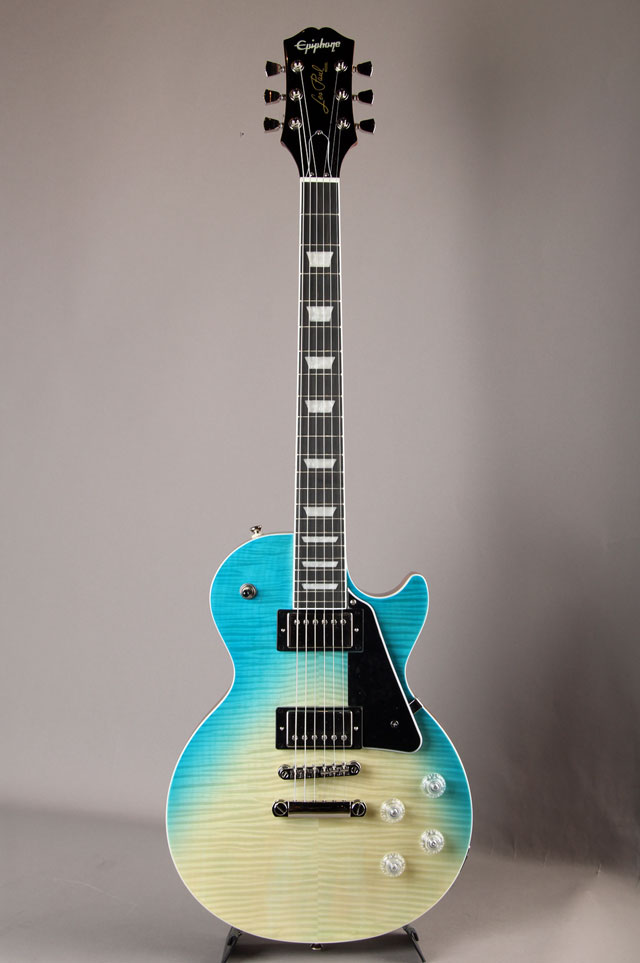 Epiphone Les Paul Modern Figured Caribbean Blue Fade エピフォン サブ画像2