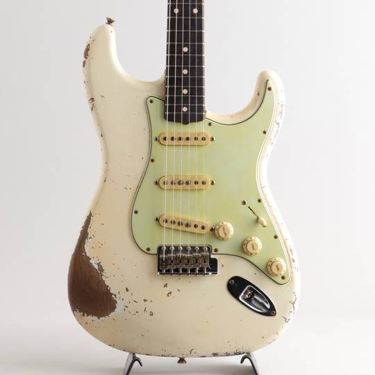 MBS 1959 Stratocaster Journeyman Relic Aged Olympic White Built by Vincent Van Trigt