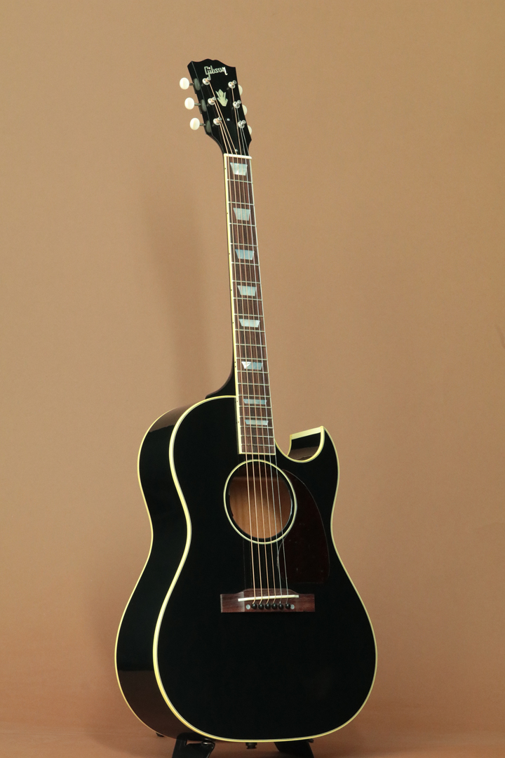 "LTD 1950's CF-100 EB Black ""Aging Adirondack Spruce Top"""