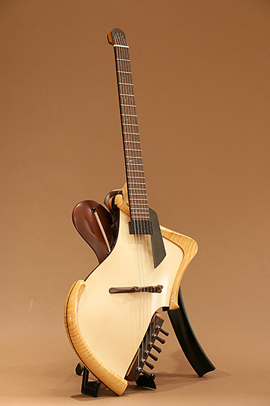 Matsuda headless arched top acoustic electric guitar