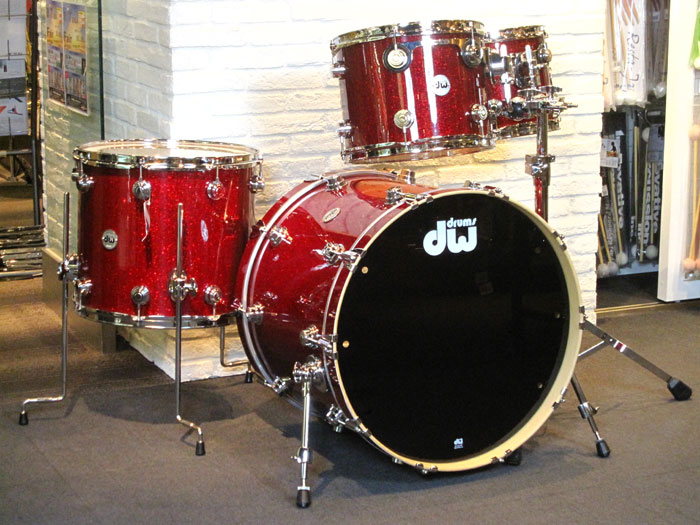 "Collector's Series 4点Set Ruby Glass 22"" 12"" 13"" 16"" w/Tom Stand"