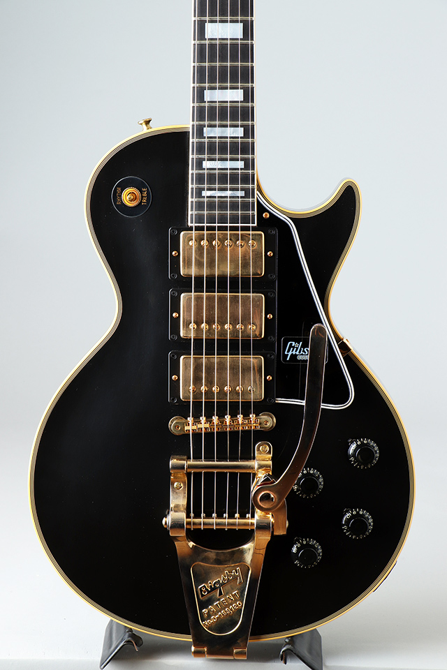 "Historic Collection 1957 Les Paul Custom 3PU Bigsby Black Beauty ""Roasted Mahogany"" 【S/N:7 8645】"