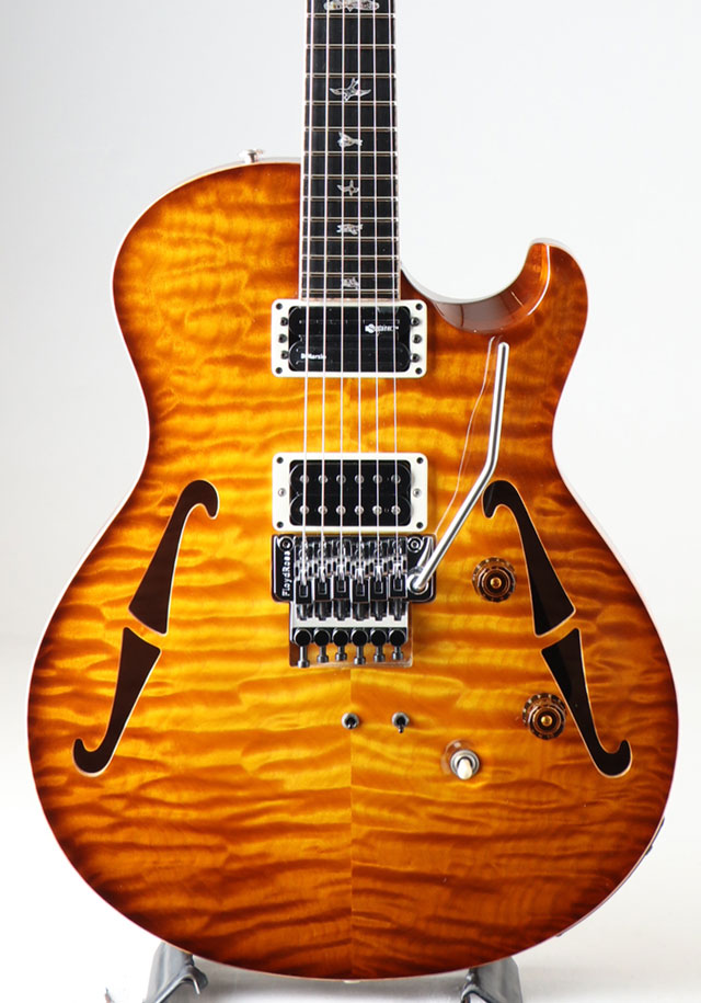 "Private Stock #4689 Neal Schon 15"" FB with 24Frets Honey Gold Glow Smoked Burst NAMM2014展示モデル"